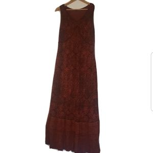 Peruvian Connection red maxi dress strapless